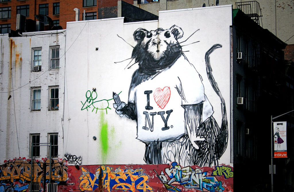 Banksy rat mural, New York
