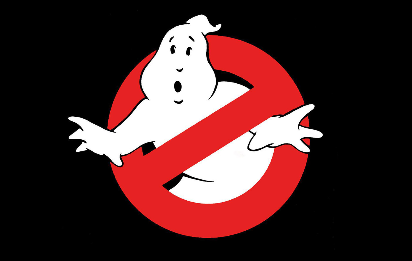 Ghostbusters logo on black