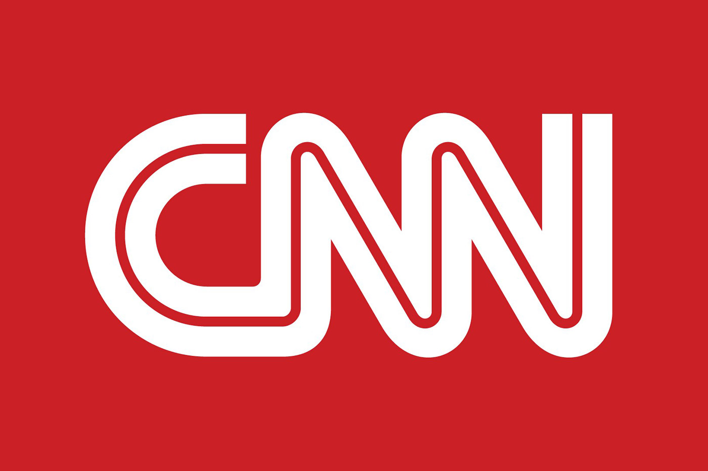 CNN logo white on red
