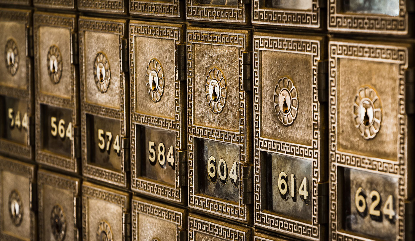 Numbered mail boxes
