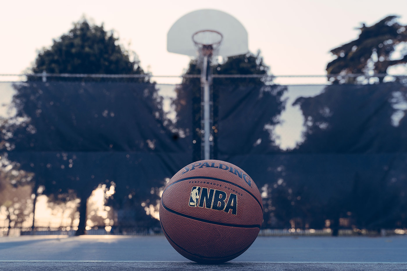NBA logo on basketball