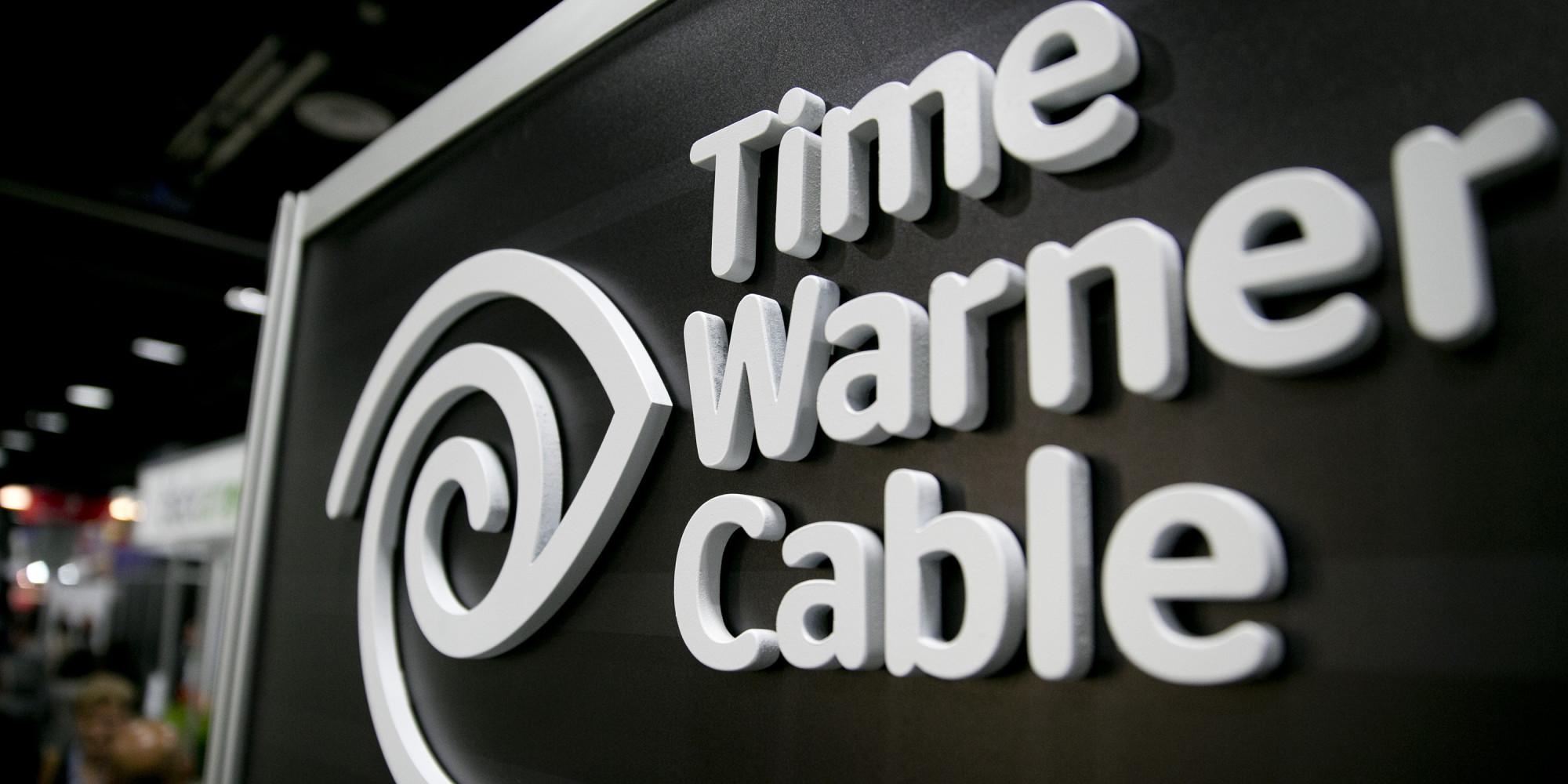 Time Warner Cable logo signage