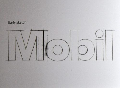 Mobil logo sketch
