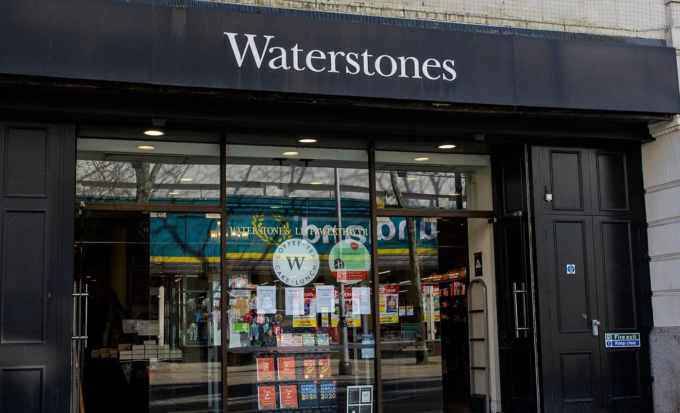 Waterstones logo signage