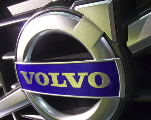 Volvo logo, car grill