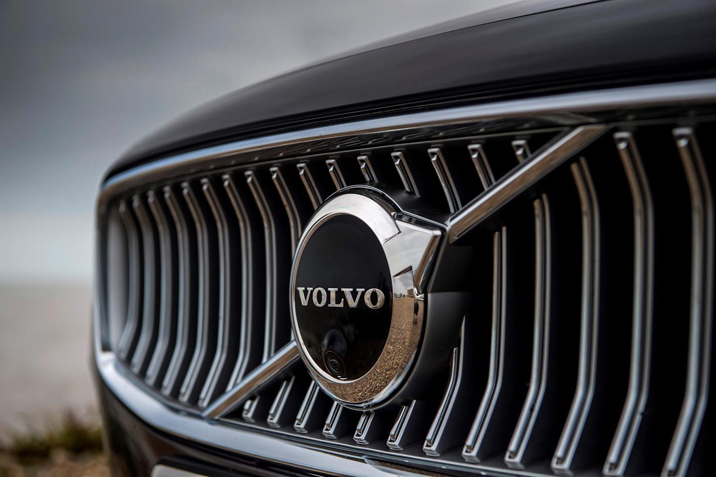 Volvo logo on grill