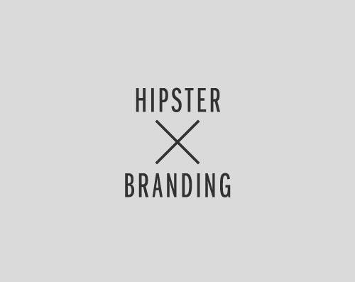 Hipster branding logo