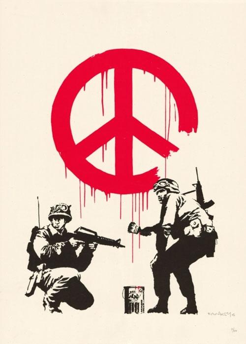 Banksy CND logo