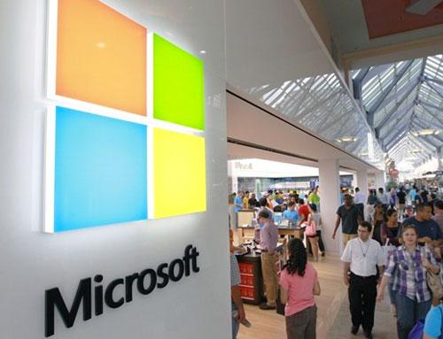 Microsoft logo 2012 signage