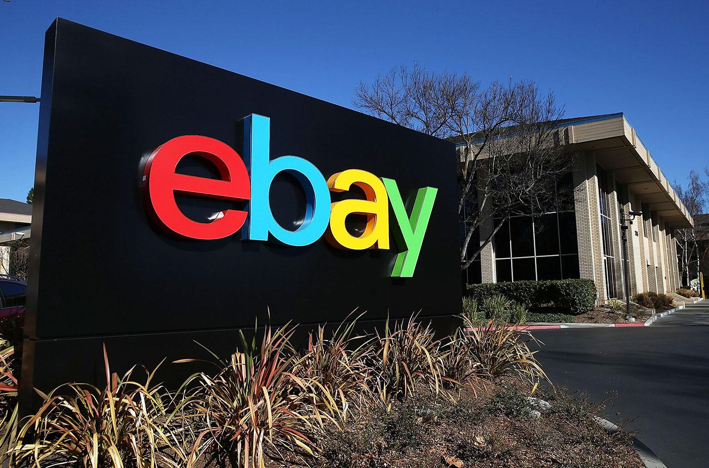 eBay logo signage