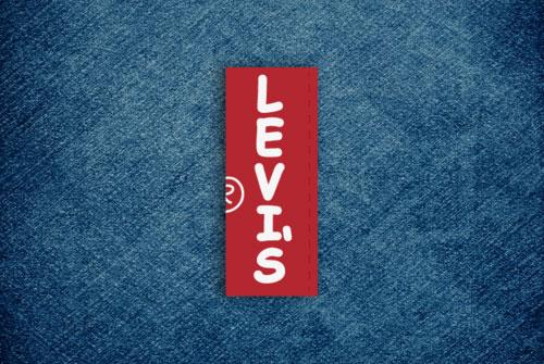 Levis logo Comic Sans
