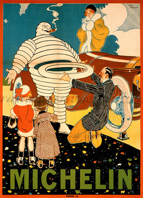 Michelin man Bibendum 1914