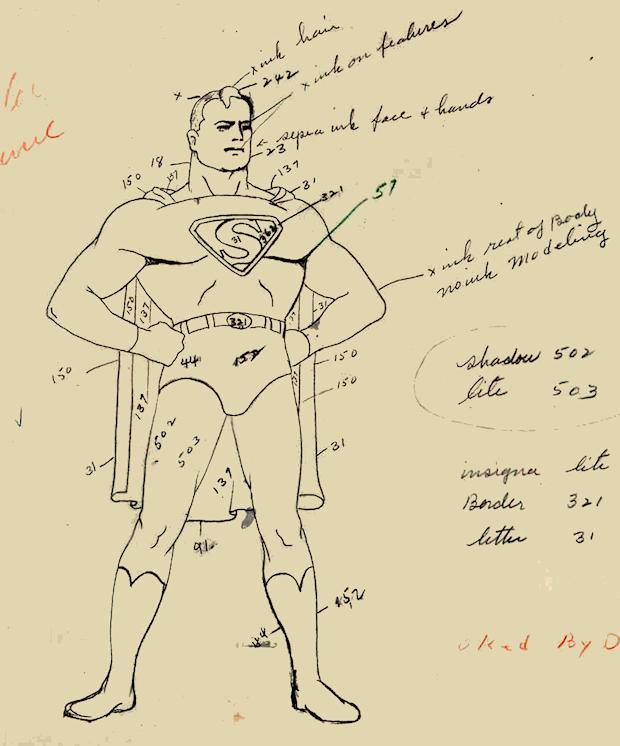 Superman Fleischer sketch
