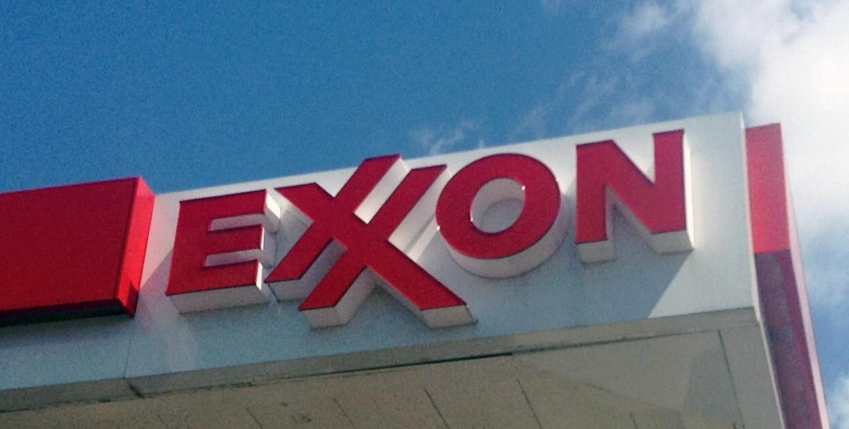Exxon signage