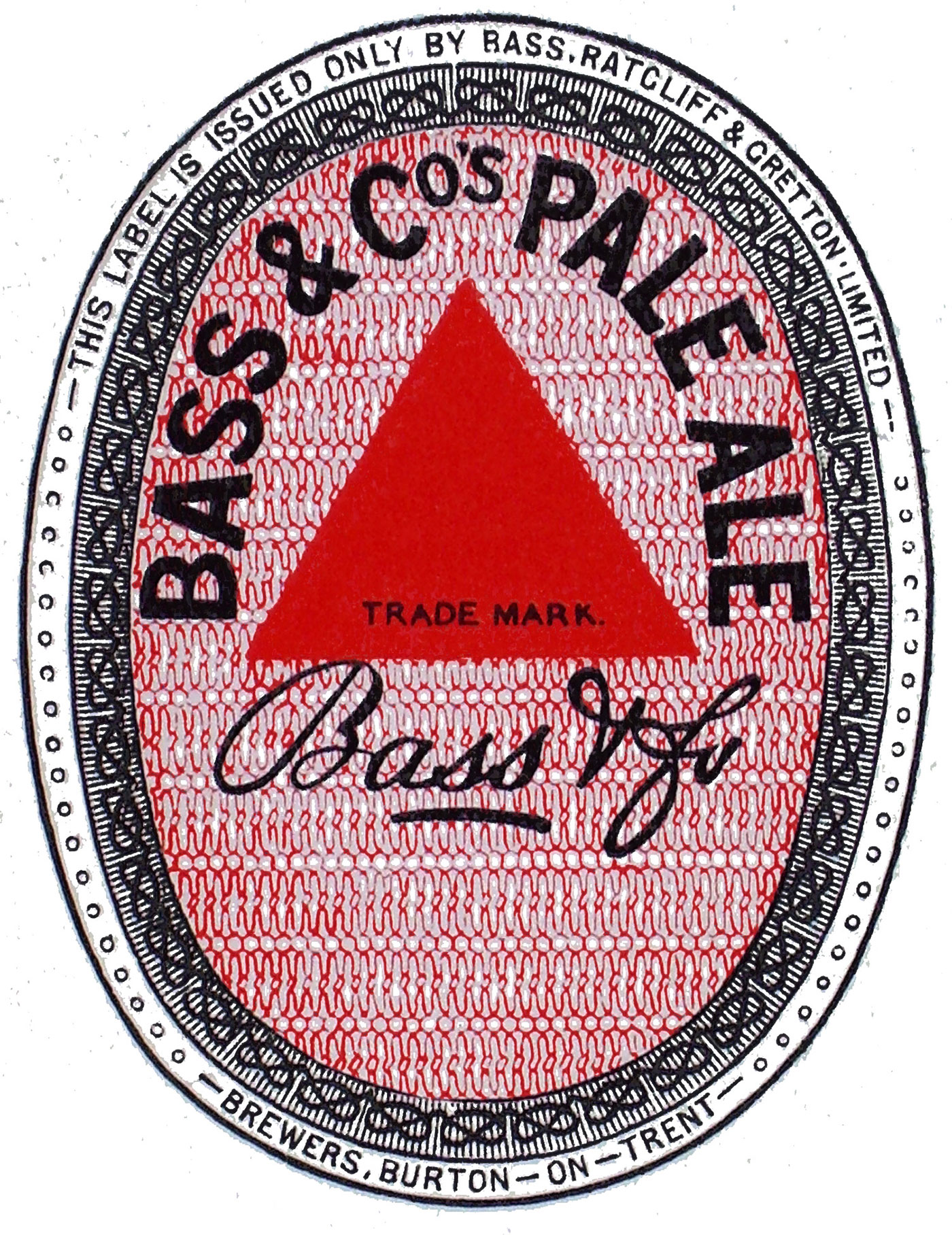 Bass pale ale vintage label