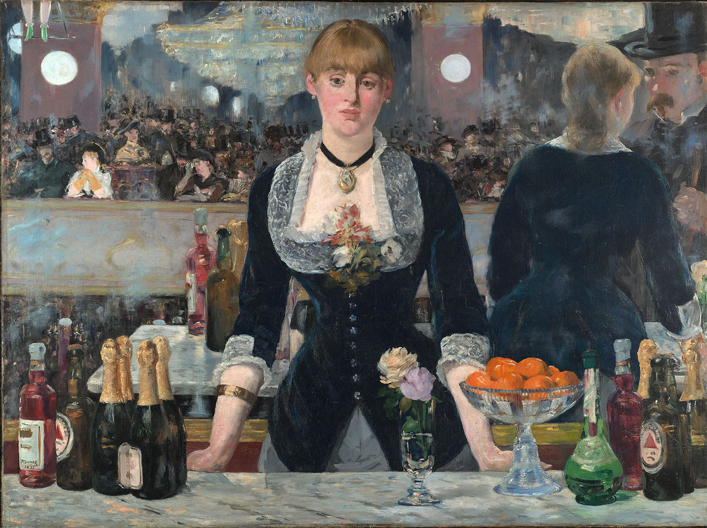 Édouard Manet bar painting Bass logo