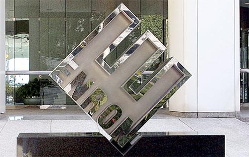 Enron logo signage