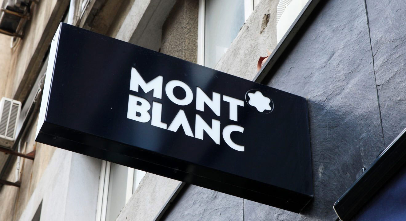 Montblanc logo signage