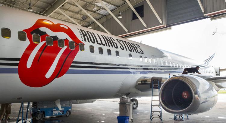 Rolling Stones jet