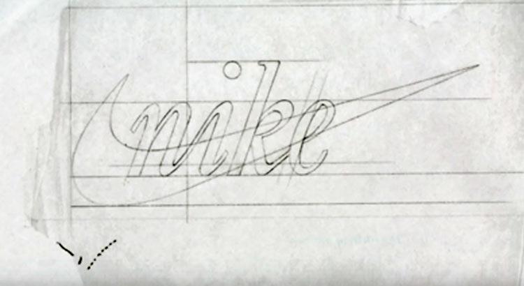 Nike logo sketch