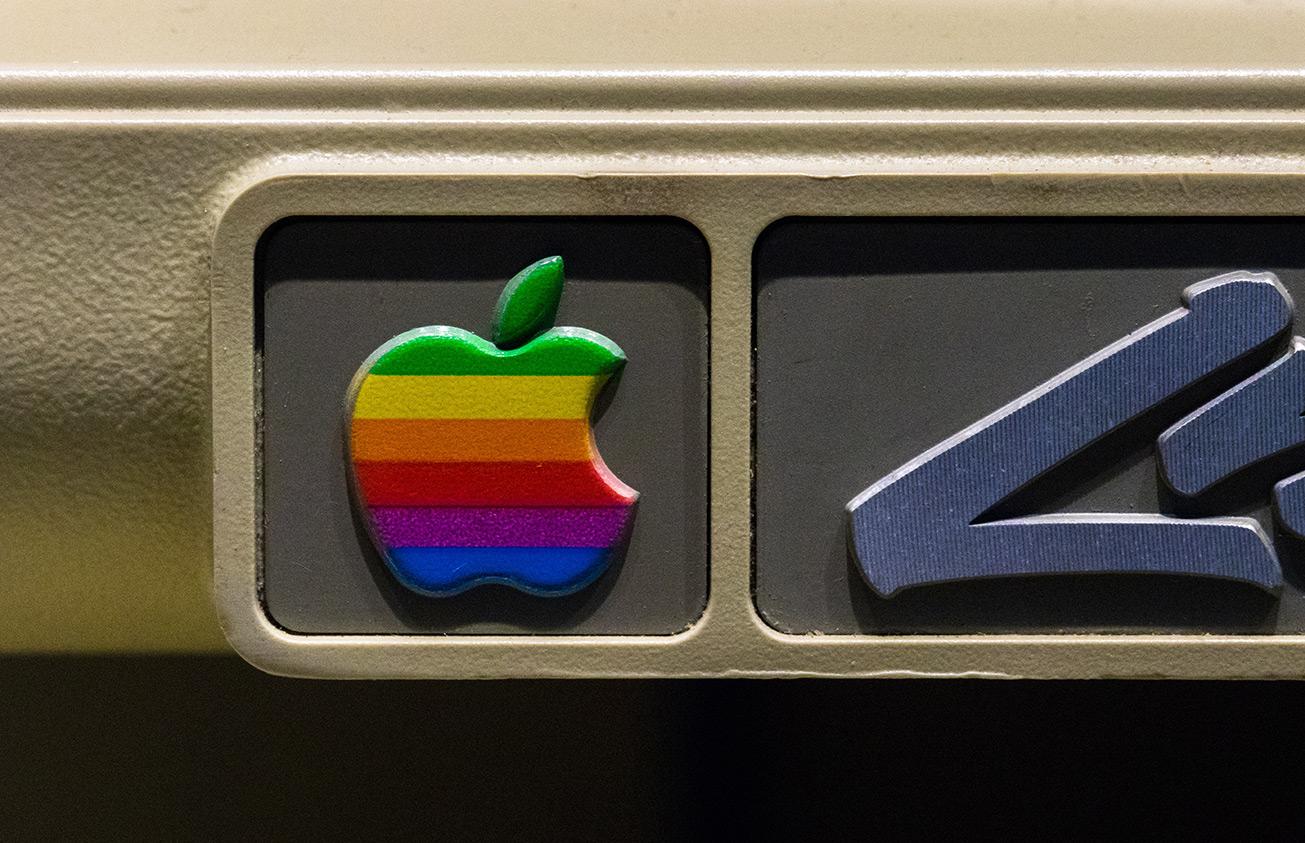 Classic Apple rainbow logo