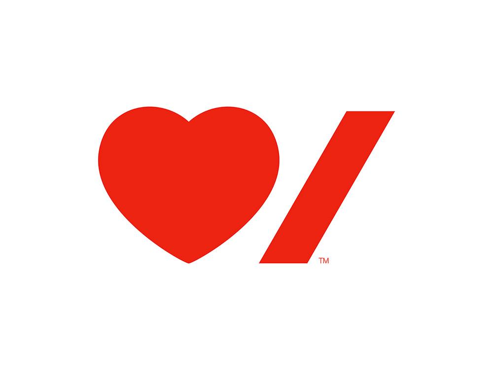 Heart Stroke logo, Paula Scher