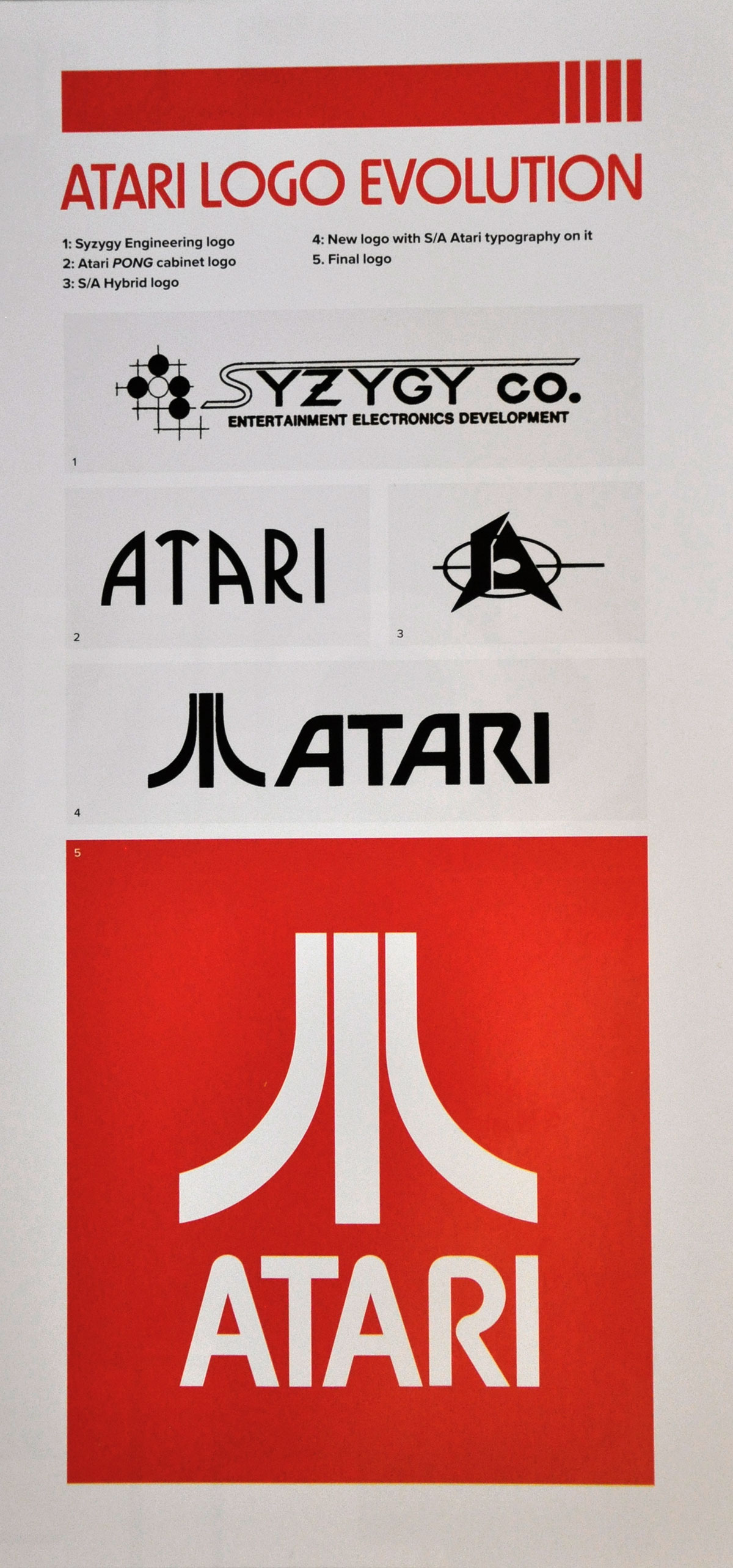 Atari logo evolution