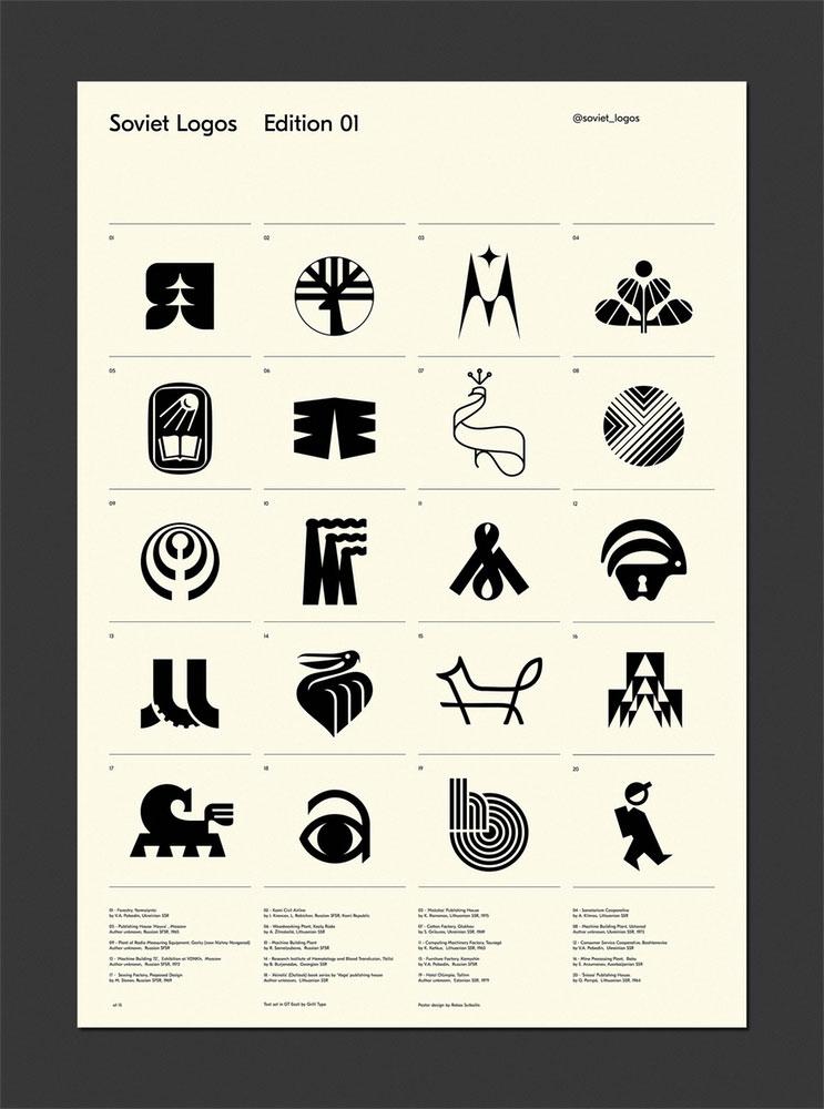 Soviet logos poster