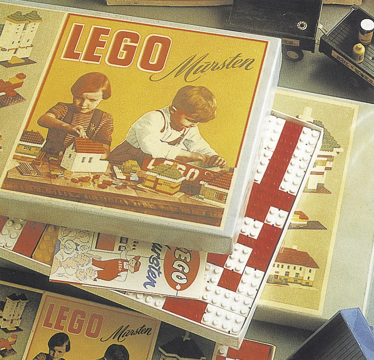 Lego Mursten packaging 1953