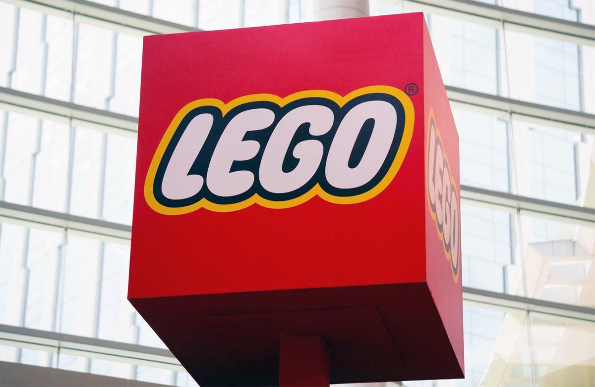 LEGO logo signage