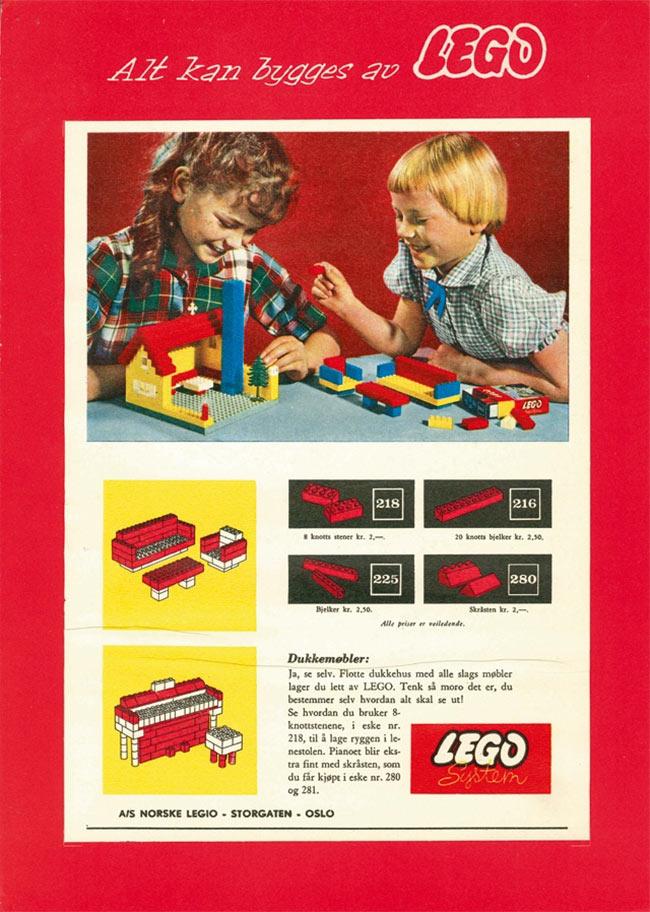 Lego vintage advertising 1960