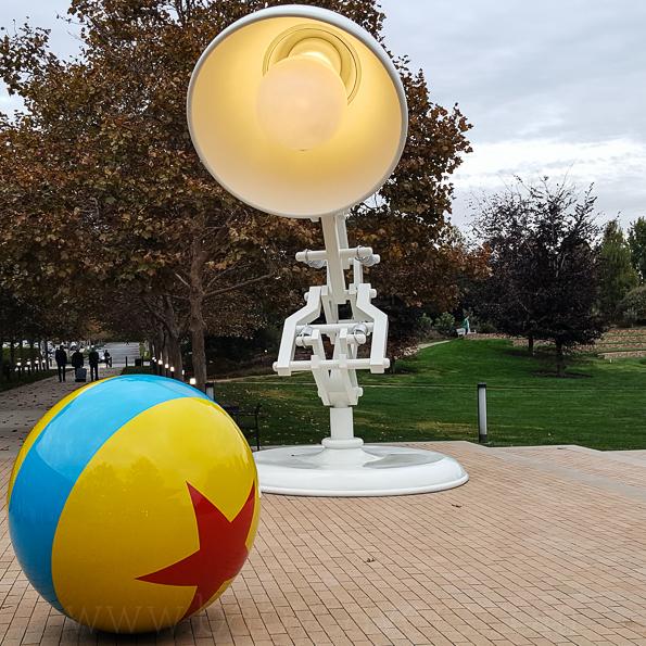 Pixar lamp statue