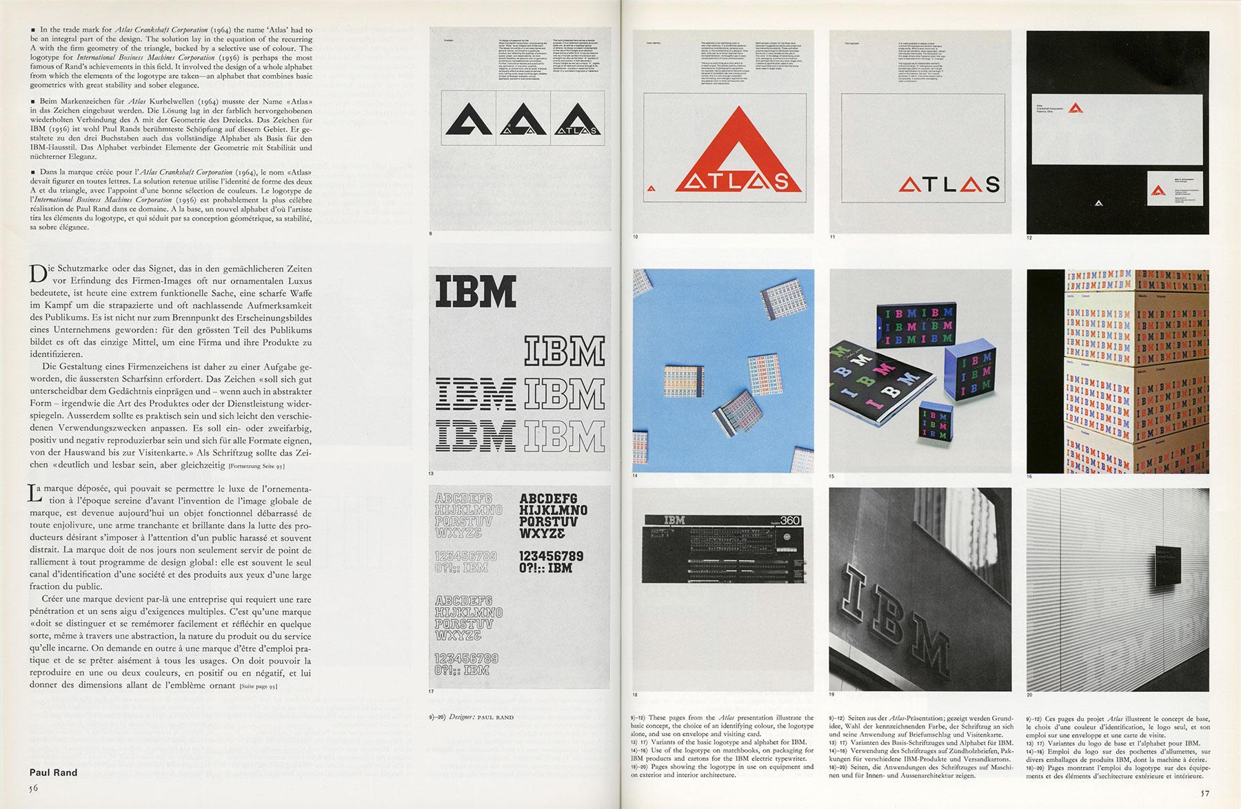 Paul Rand client logo presentation