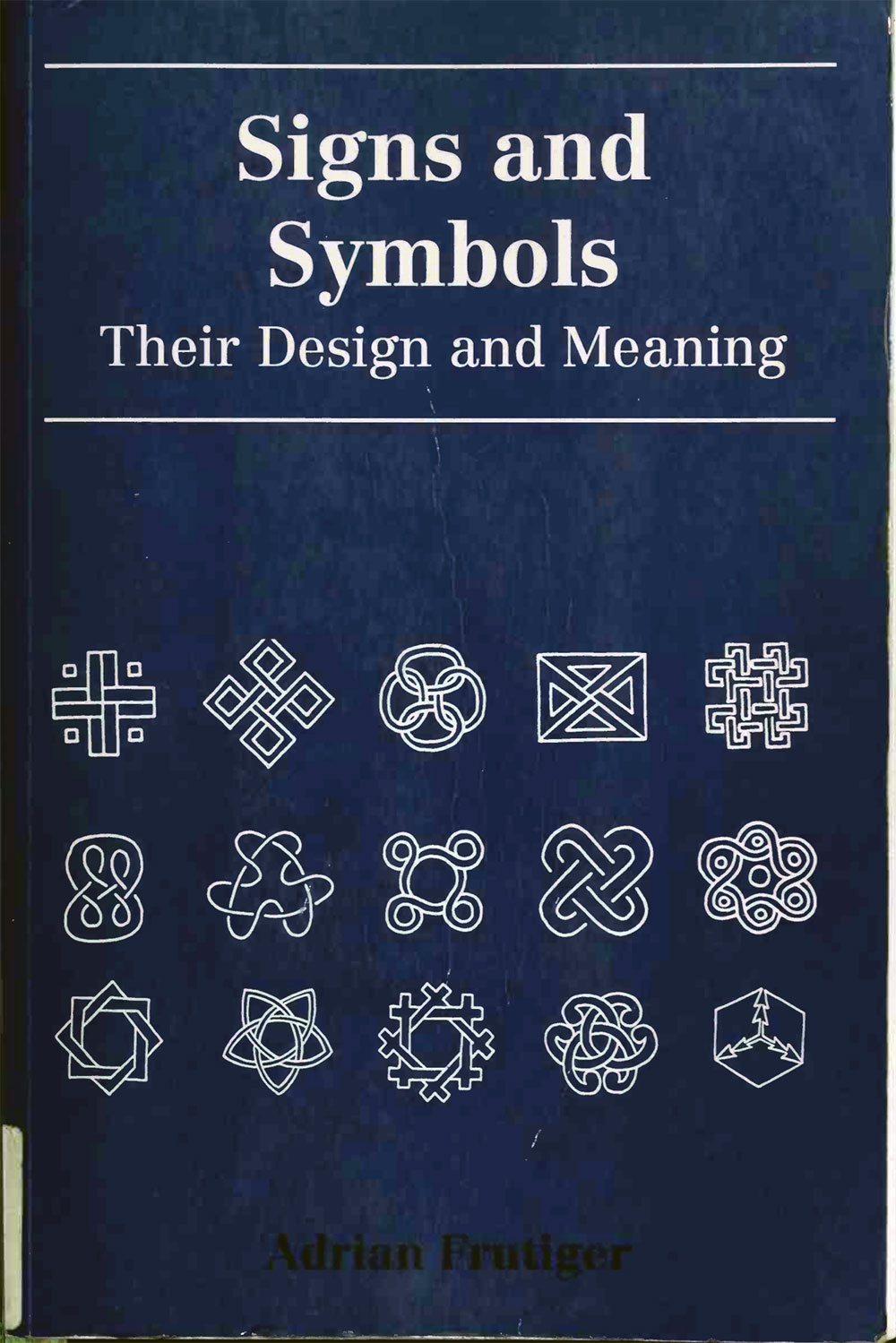 Signs and Symbols book, by Adrian Frutiger
