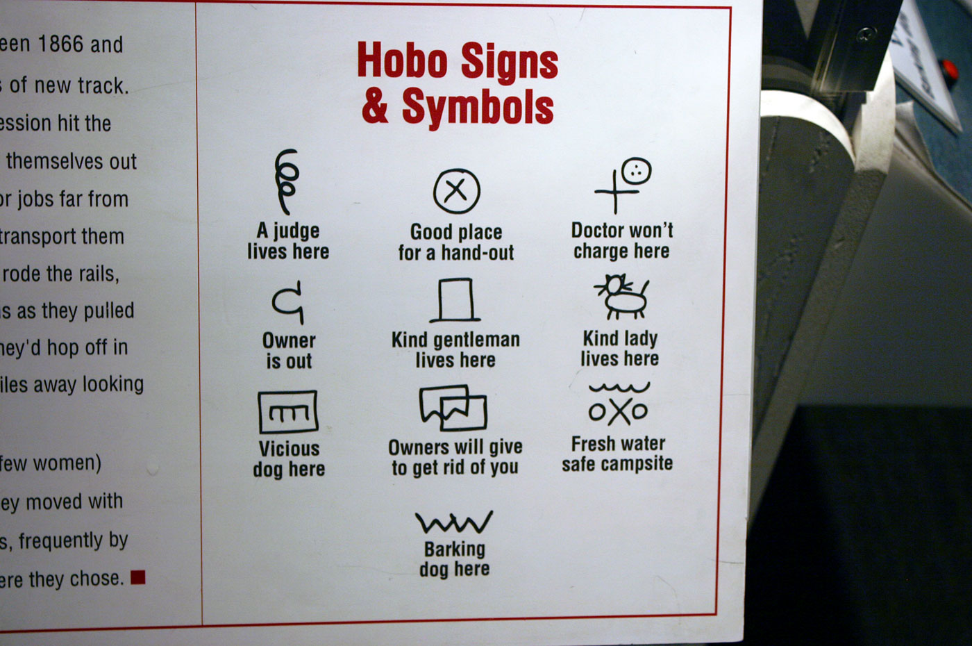 Hobo signs and symbols, code for the road | Logo Design Love
