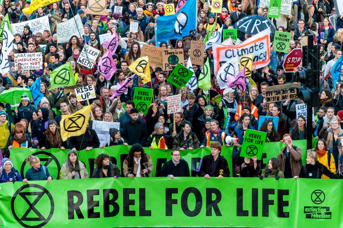 Extinction Rebellion banner