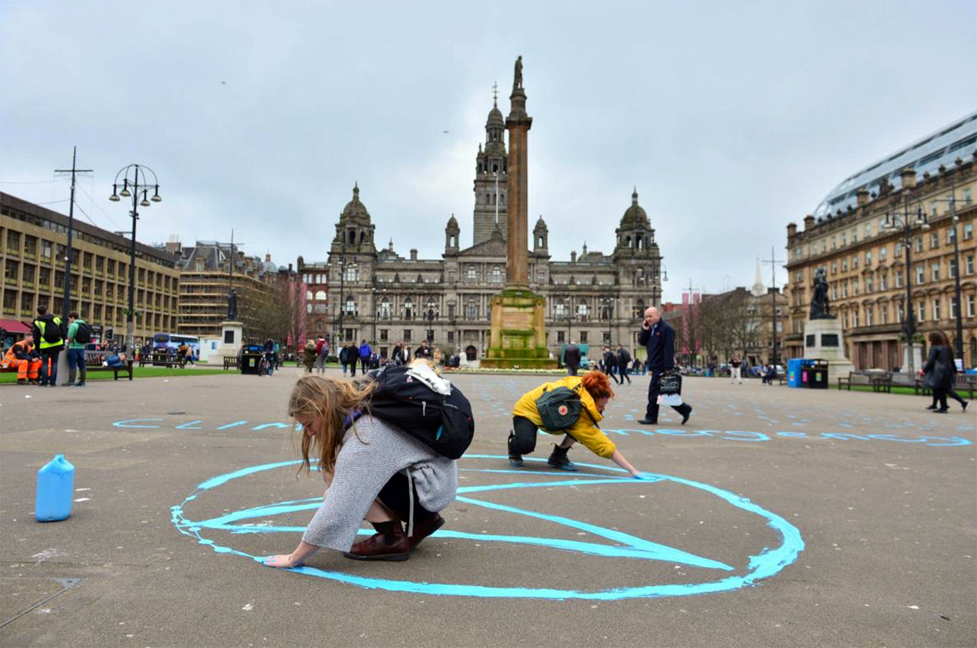 Extinction symbol, Glasgow, Scotland