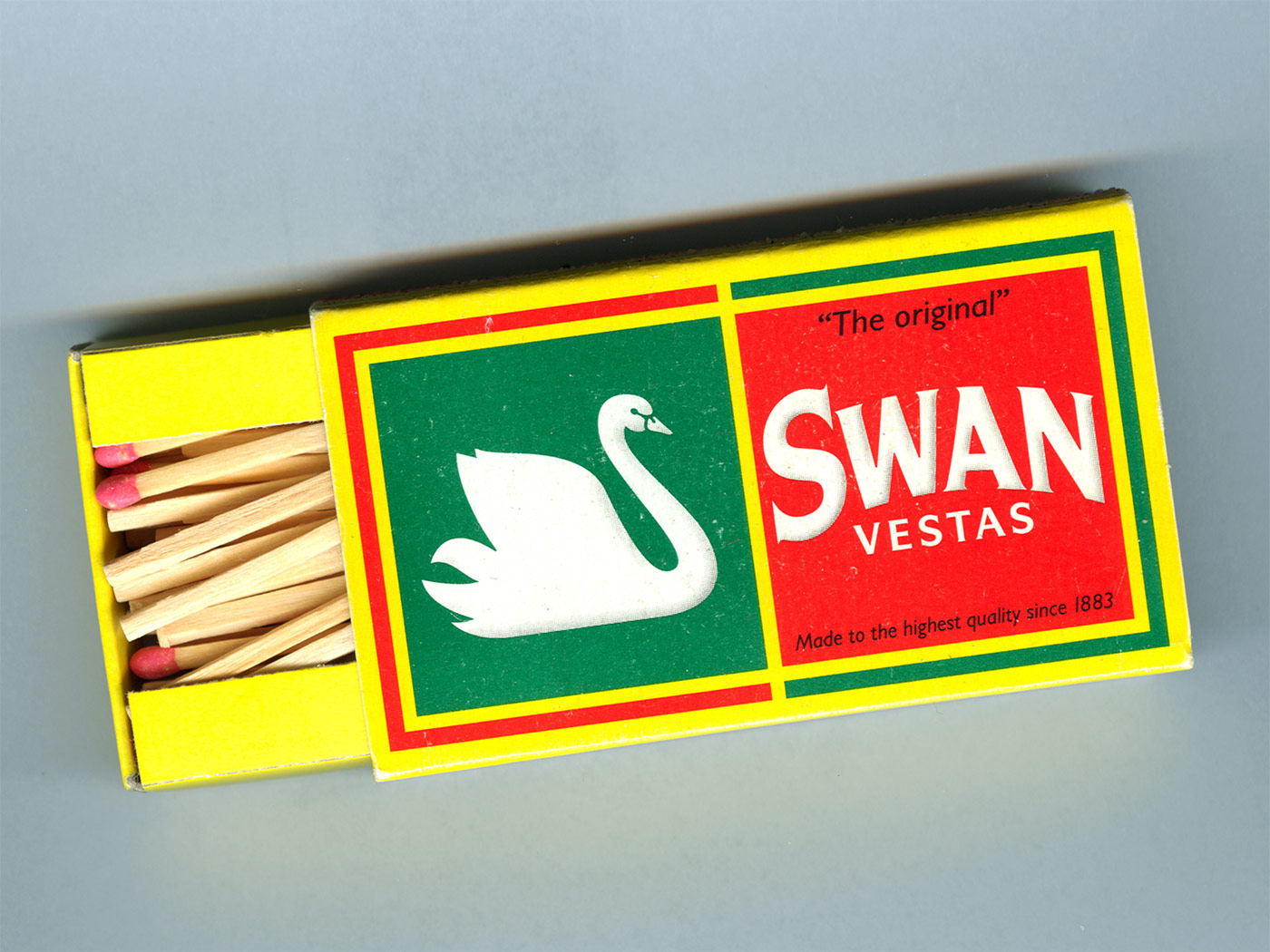 Swan Vestas matchbox packaging design
