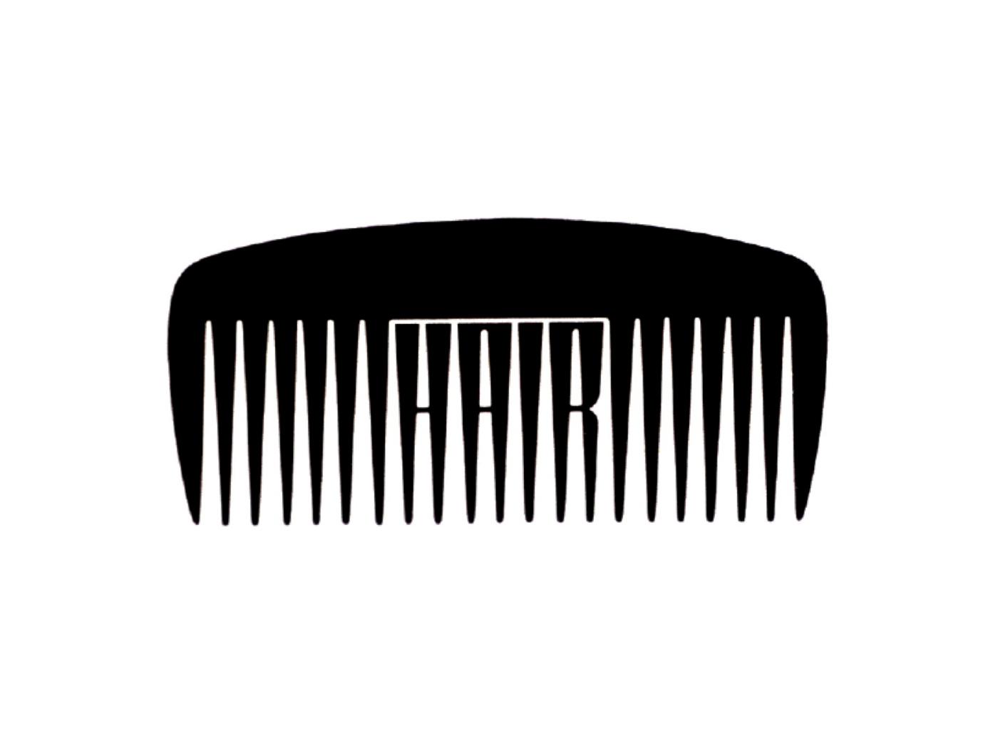 Hair logo by Woody Pirtle