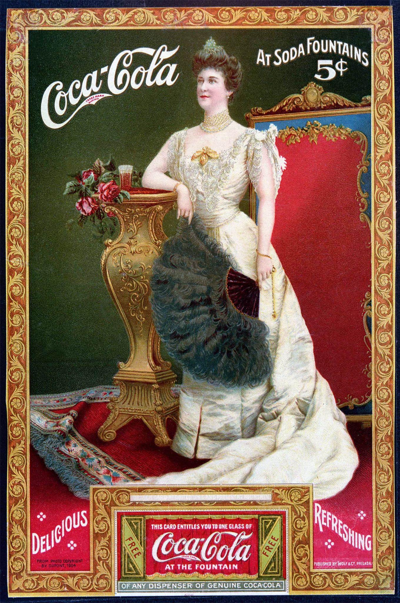 Coca-Cola ad, Lillian Nordica and coupon, 1905