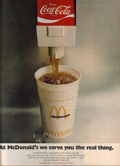 Coca-Cola Arden Square McDonald's ad, 1972