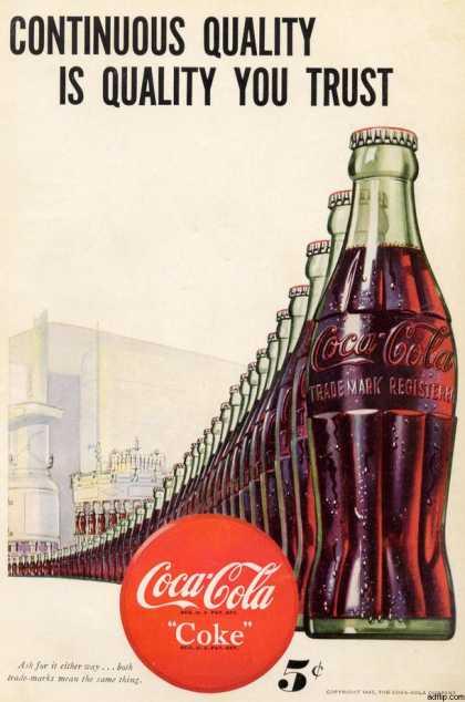 Coca-Cola Coke ad, 1947