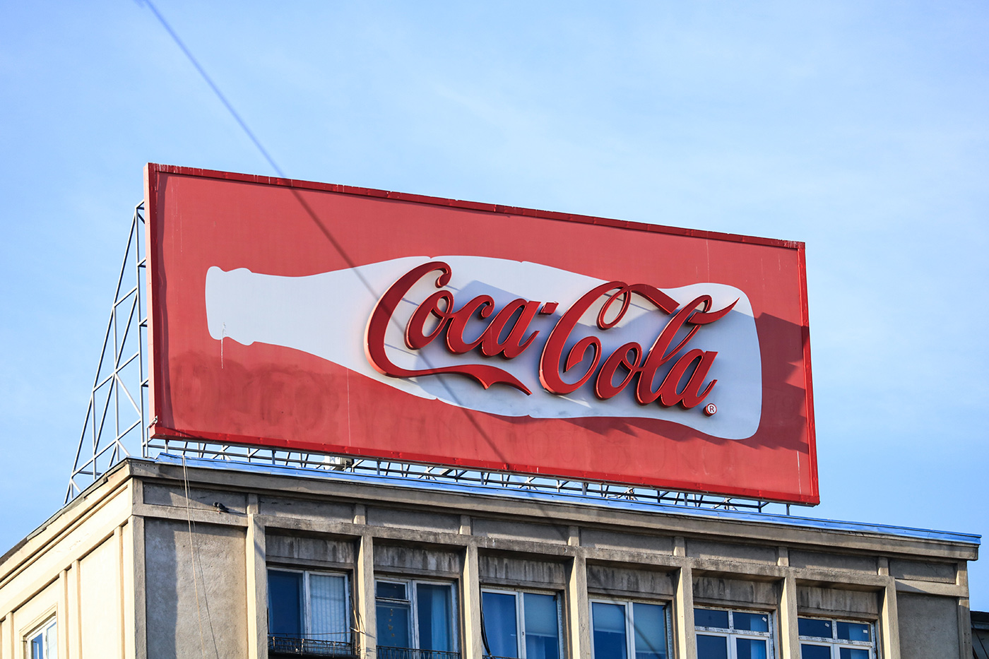 Coca-Cola logo billboard