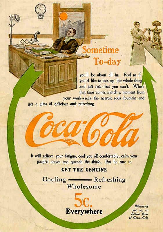 Vintage Coca-Cola poster, 1909