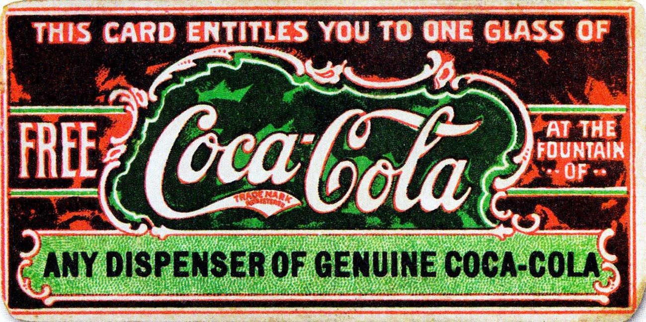 Free Coca-Cola coupon, 1887